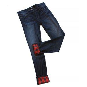 Joe's Jeans Plaid Alia Straight Ankle